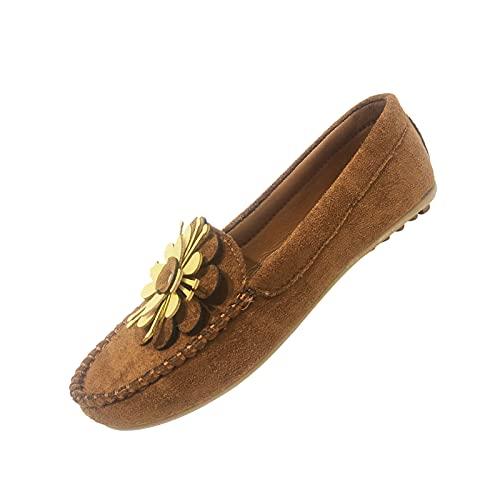 Mocassins Chaussures de Conduite Plates Chaussures Bateau Confort Penny Loafers Chaussures en Toile Bateau Espadrilles Flâneurs Poids léger Appartement Doux Durable Fait Main Anti-dérapant Chaussures
