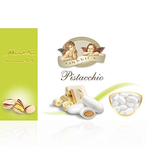 Italienisch Hochzeitsmandeln für Gastgeschenke mit  Weiß Schokolade und Pistazienaroma   90 Stücke