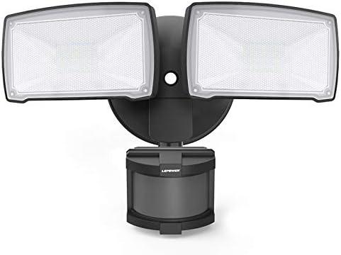 LEPOWER 28W LED Security Lights Motion Sensor Light Outdoor 3000LM Motion Security Light 5500K product image