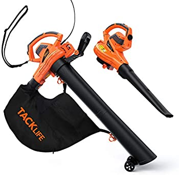 Tacklife 3-in-1 Leaf Blower/Vacuum/Mulcher with 45L Collection Bag