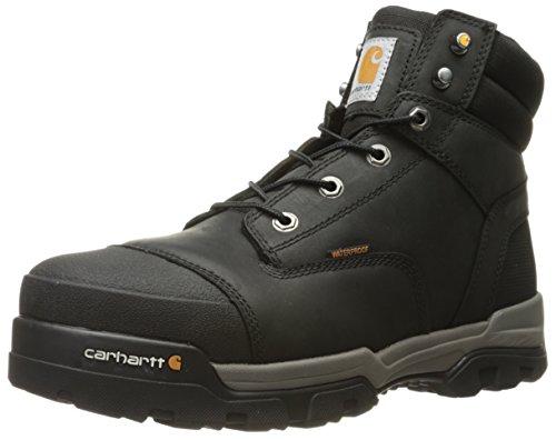 "Carhartt mens 6"" Energy Black Waterproof Composite Toe Cme6351 Industrial Boot, Black Oil Tanned, 10.5 US"