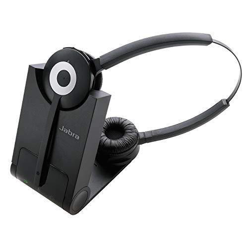 Jabra Pro 930 Duo MS DECT Auriculares alámbricos estéreo con cancelación de ruido y batería para todo el día - Certificados para Skype for Busess - Para Softphones - Enchufe UE