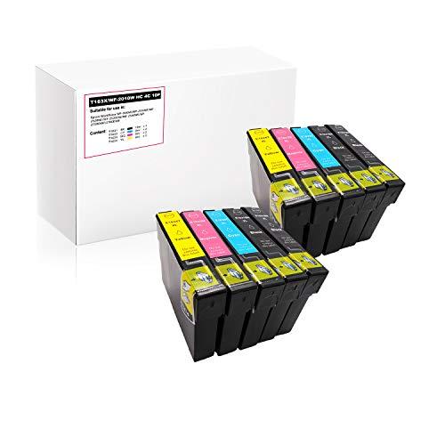 Print-rite de Repuesto para Epson 16 16XL T1631 T1632 T1633 T1634 Cartuchos de Tinta para impresoras Epson Workforce WF-2010W WF-2510WF WF-2520NF WF-2530DW WF-2540WF WF-2750DWF 2760DWF