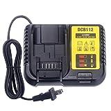 Elefly 12V-20V Battery Charger DCB112 Compatible with Dewalt 12V 20V MAX Lithium Battery DCB206 DCB205 DCB120, Replacement for Dewalt 20V Charger DCB112 DCB115 DCB118 DCB102BP DCB107