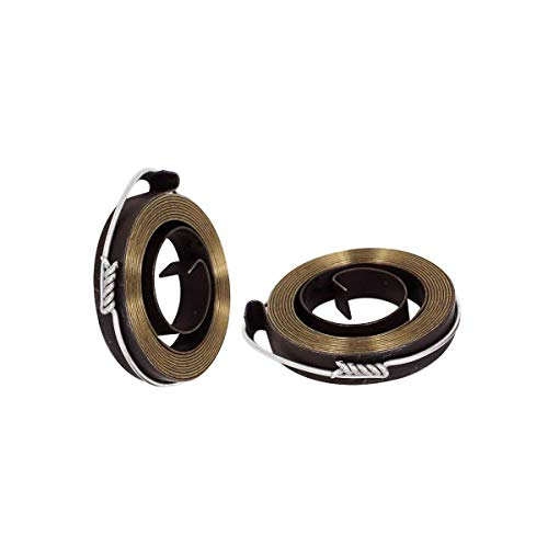 Best Bargain COMOK 2Pcs 10mm Width Metal Drill Press Quill Feed Return Coil Spring Assembly, 54 x 10...