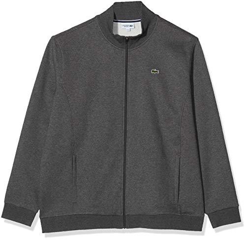 Lacoste Sport Herren SH7616 Reißverschluss Jacke, Grau (Noir Pitch 050), XXXX-Large (Herstellergröße: 10)