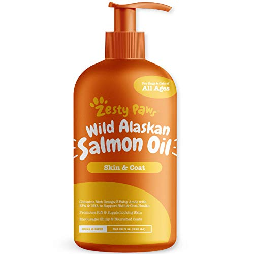 Pure Wild Alaskan Salmon Oil for Dogs & Cats - Supports...