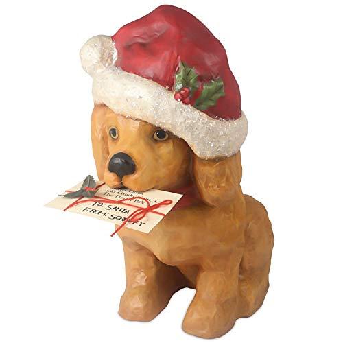 "Bethany Lowe 20"" Santa Puppy Paws Beagle Dog Retro Vintage Style Christmas Figurine Decor"
