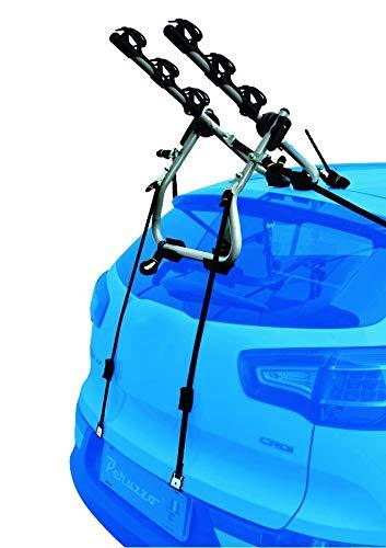 PROPOSTEONLINE Portabici Auto Posteriore per 3 Bici Compatibile con KIA Cerato a 3/5 Porte Struttura attacchi Ganci in Acciaio e Sistema blocca-Bici con Effetto Ammortizzatore a Protezione del Telaio