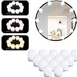 IWILCS Luces LED Kit de Espejo con 14 Bombillas Regulable, Luces para Espejo de Maquillaje 3 Modos de Color, Luces Tocador Iluminación de Tocador para Fiesta Cumpleaños