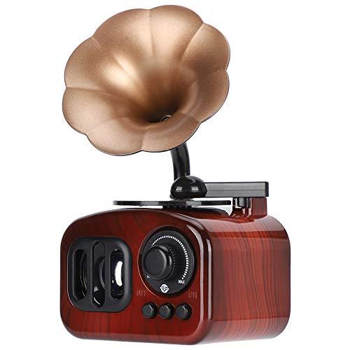 WNSC Caja de música con Forma de fonógrafo, Caja de música Retro Duradera y Resistente para Oficina para el hogar