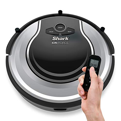 Shark ION Robot Dual-Action Robot Vacuum Cleaner with 1-Hour Plus of Cleaning Time, Smart Sensor Navigation and Remote Control (RV720) (Renewed)