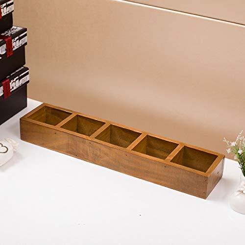 Caja de almacenamiento de joyas,Organizador de joyas - Caja de almacenamiento de madera Organizador de Divisores Organizador de caja de almacenamiento de joyas de gran tamaño Almacenamiento Joyería