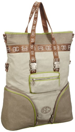 Poodlebags Damen German Couture-Bauhaus chic-Weimar Shopper, Grün (green), 41x49x14 cm
