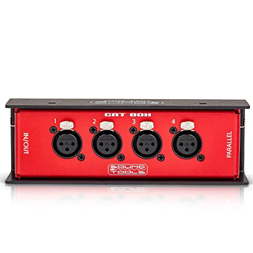 CAT Box FX  Female XLR Stage Box with Audio Over Shielded CAT Cable Send 4 Channels of Audio DMX ClearCom or AES