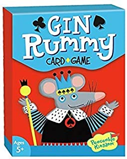 Peaceable Kingdom Gin Rummy Classic Card Game for Kids - 52 Cards with Gift Box