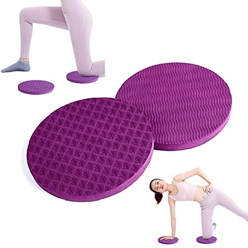 WowDude Latest Yoga Knee Mat for Yoga Plank Matt Pad Pilates Knee Pads Mini Exercise Extra Padding Yoga Mats Thick Yoga mats for Women for Exercise Thick Workout mats for Home Gym-Purple