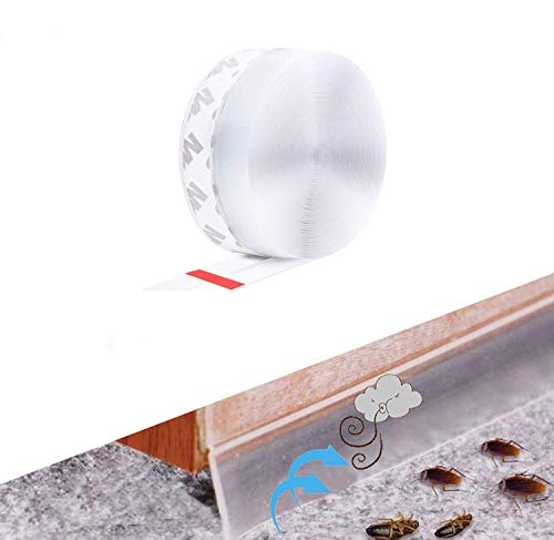Wetterschutz-Türdichtungsstreifen 6 m, selbstklebende Schallschutz-Fensterdichtung, Zuglufttür-Windschutzscheiben-Dichtungsstreifen, Silikontür-Bodendichtung, wasserdicht,...