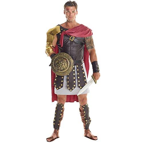 Morph Herren Braunes Römisches Gladiator Kostüm für Karneval - XL