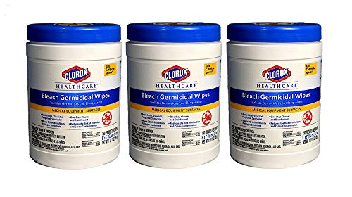 Clorox 30577 Healthcare Bleach Germicidal Wipe, 150 Count (3 Containers)