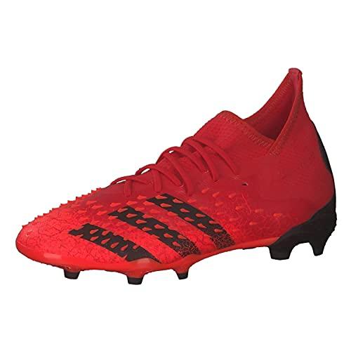 adidas Predator Freak .1 Fg J, Scarpe da Ginnastica, Rosso (Negbás Rojsol), 37 1/3 EU