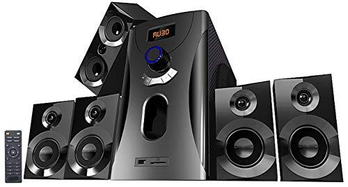 auvisio Heimkinoanlage: Home-Theater Surround-Sound-System 5.1, 160 Watt, MP3, Radio, schwarz (5 1 Lautsprecher)