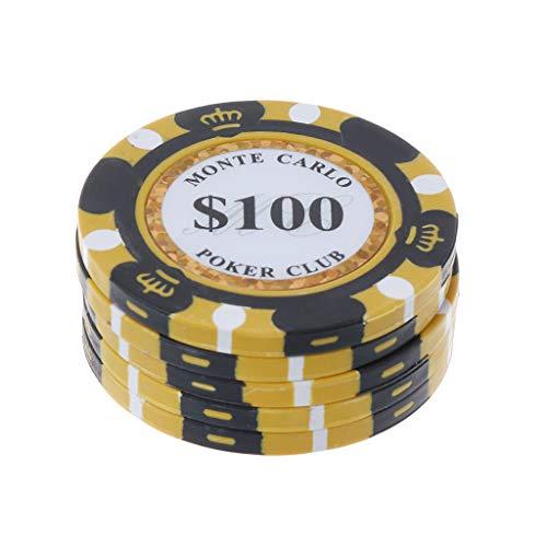 cxnwuggfvsc 5 Poker-Chips Clay Casino Münzen 14 g Texas Hold'em Baccarat Kartenschutz 4 cm 100