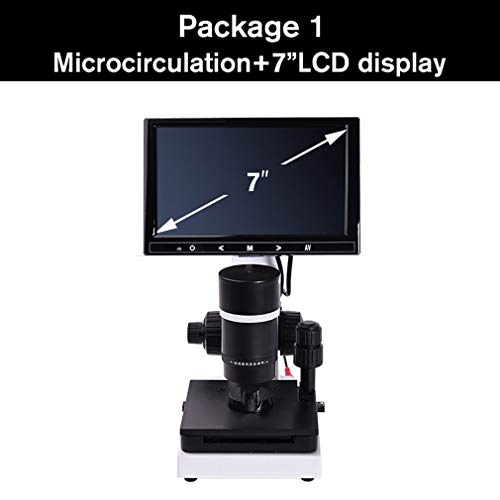 ANZQHUWAI professionele nailfold capillaire microcirculatie USB HD digitale microscoop microbloed circulatie + 7 inch of 9 inch LCD-display