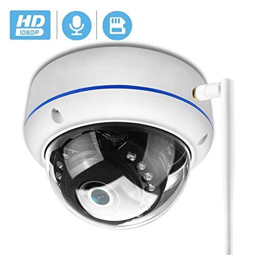 WYJW Full HD Weitwinkel 2,8 mm 1080P PoE CCTV Dome-Überwachungskamera-Set 20 m IR-Nachtsicht, vandalensichere ONVIF-Infrarot-IP-Kamera im Innen- und Außenbereich, P2P-Technologie, max.