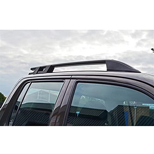 XIAOZHIWEN Tornillo de Coche Instale la Barra de riel Lateral Barra de Techo para Mitsubishi L200 2015 2017 2017 2017 2017 HNXZW (Color : Black)