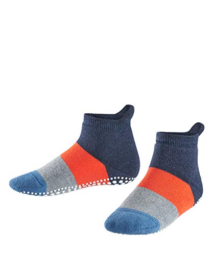FALKE Kinder Stoppersocken Colour Block - 90% Baumwolle, 1 Paar, Blau (Navy Blue Melange 6490), Größe: 27-30