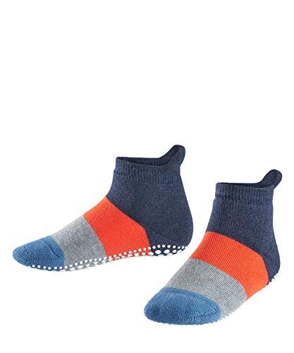 FALKE FALKE Kinder Stoppersocken Colour Block - 90% Baumwolle, 1 Paar, Blau (Navy Blue Melange 6490), Größe: 27-30