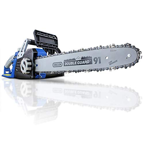 Hyundai Powerful 2400 Watt 230V Electric Chainsaw, 3 Year Warranty, 16-Inch Oregon Guide Bar and...