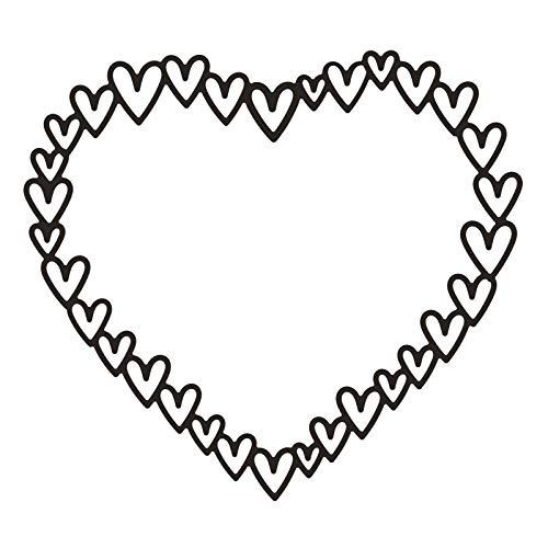 Vaessen Creative MV-SS-111 Handwerk Stanzschablone zum Basteln, Herzrahmen, Erstellen komplexer Designs für Scrapbooking, Kartenherstellung und andere Papierprojekte, Silber, 10,5 x 11,5 cm