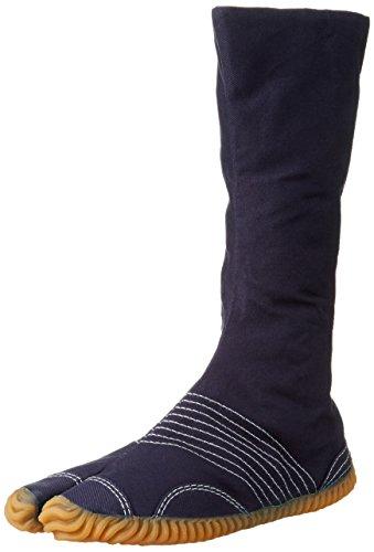 MARUGO Jog Chika-Tabi Japanische Tabi Schuhe Navy mit weißer Naht 12 Clips