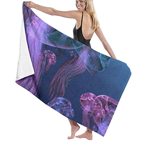 XCNGG Highly Absorbent Bathroom Towel Robe Fade Resistant Comfortable Soft Shower Sheets Premium Travel Home Towel for Travel Pool Spa Hotel80x130cmCreative Marine Sketch Underwater