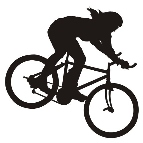 das-label Mountainbike Cross Autoaufkleber Sportaufkleber schwarz