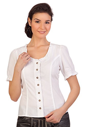 Spieth & Wensky Trachten Bluse - WINKA - rot, weiß, Größe 48