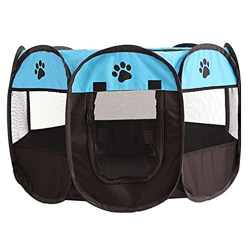 Tiandirenhe Parque para Cachorros, Recinto Plegable para Mascotas, Valla Plegable para Mascotas, Carpa De Tela Octogonal para Juegos para Cachorros, Gatos, Perros, Conejos O Animales Pequeños