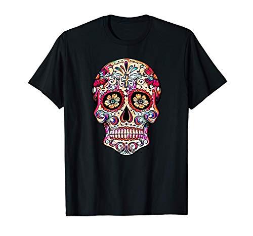 Sugar Skull Shirt Cool Calavera Dia De Muertos Day Dead Gift Camiseta
