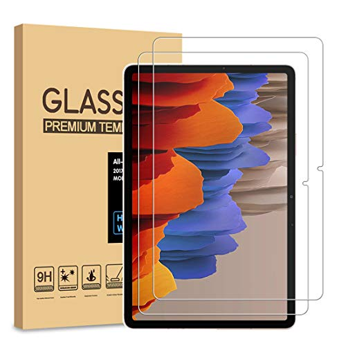 [2 Pack] PULEN Screen Protector for Samsung Galaxy Tab S7(11 inch) [Premium Quality][Bubble Free][Anti-Fingerprint][Scratch Resistance][HD] Tempered Glass Film