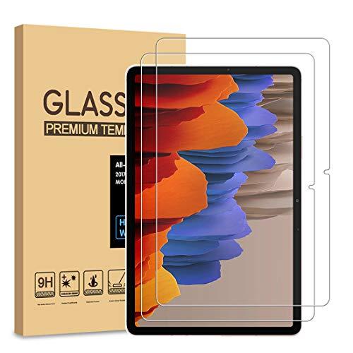 [2 Stück] PULEN Panzerglas Schutzfolie für Samsung Galaxy Tab S7(11 inch) [9H Härte][Anti-Kratzen] [Anti-Bubble][Anti-Fingerabdruck][HD] Klar folie