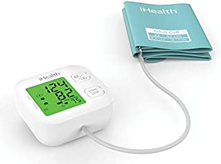iHealth Track Wireless Upper Arm Blood Pressure Monitor with Wide range Cuff that fits Standard to Large Adult Arms, Bluetooth Compatible for Apple & Android Devices by iHealth