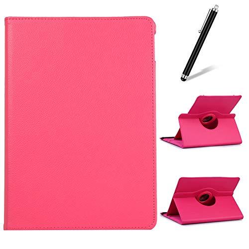 Artfeel Cover per Samsung Galaxy Tab A 7.0 T280/T285,Girevole 360 Gradi di Rotazione Supporto Custodia,Visualizzazione Multi-Angolo Sottile Leggero PU Pelle Flip Cover,Rosa Rossa