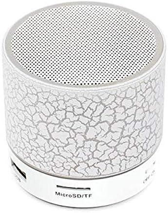 Sago A9 Bluetooth Altoparlante Mini Altoparlante Wireless Crack LED Tf USB Subwoofer Bluetooth Altoparlante Mp3 Stereo Audio Music Player Bianco - Trova i prezzi più bassi
