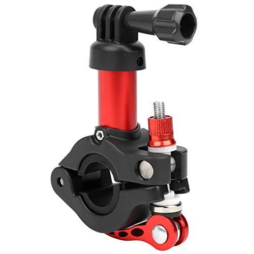 DAUERHAFT Soporte de cámara de acción para tija de sillín de Bicicleta El Rango de sujeción es de 30 a 35 mm, para Disparar en Bicicleta