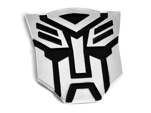 SKS Distribution® Transformers Autobot 3D-Chrom-Auto-Emblem-Abzeichen-Aufkleber Aufkleber mittlerer Größe