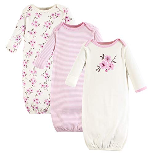 Touched by Nature Baby Organic Cotton Gowns, Cherry Blossom, 0-6 Months