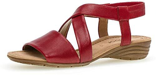 Gabor  Damen Sandalen, Frauen Riemchensandalen,Best Fitting, Sandalette, 40 EU, Rubin Rot