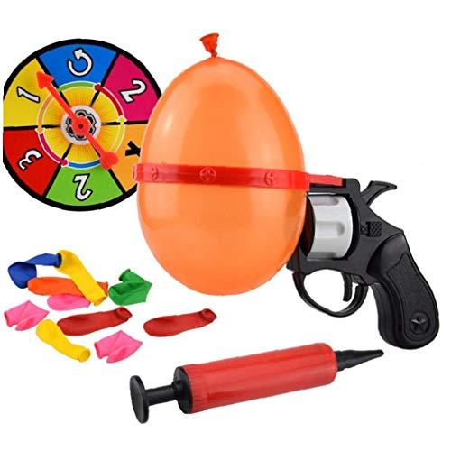 Interactivo Partido Pistola Juego Del Partido Del Globo Ruleta Suerte Globo Pistola De Juguete Ruso Del Juguete Difícil Para Adultos Y Niños, Juguetes Educativos
